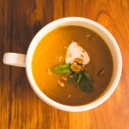 Pumpkin and walnut soup