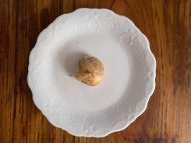 cinnamon mixed into the shortbread dough