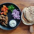 Chicken Souvlaki Pita Wraps